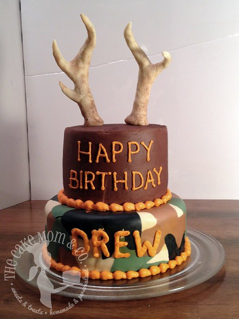 Incredible Deer Hunting Birthday Cake Deer Hunting Birthday Cake Flickr Personalised Birthday Cards Veneteletsinfo