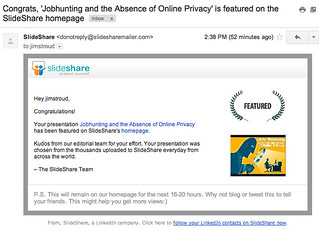 I was featured on Slideshare | by JimStroud