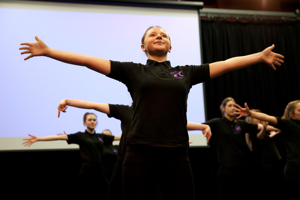 Woodlands Academy perform choreography from 'Keeping Dance Alive' initiative' © Rachel Cherry 2013