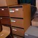 4 drwr wood filing cabinet