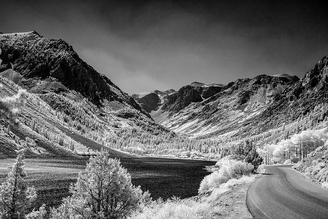 Driving up toward Mount Whitney, Inyo County, California - 7135