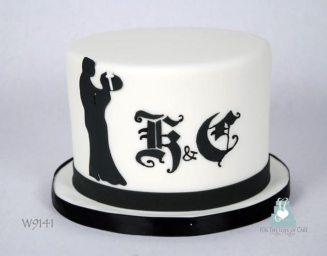 W9141-mini-black-white-silhouette-wedding-cake-toronto