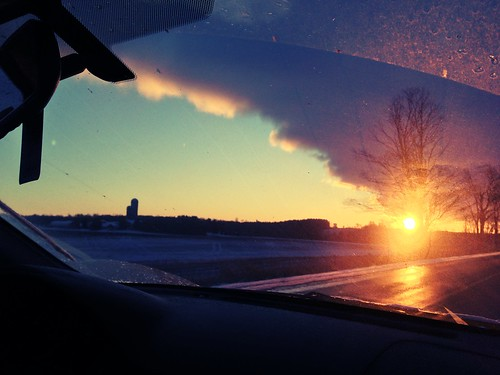 morning nature sunrise fromthecar uploaded:by=flickrmobile flickriosapp:filter=chameleon chameleonfilter guelphlakeconservation