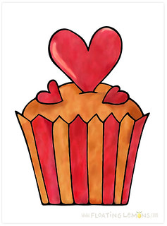 Quirky Cupcakes Series: Red Heart