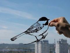 Bird Handmade Original Paper Cut