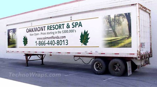 Semi trailer vinyl wrap in Orlando