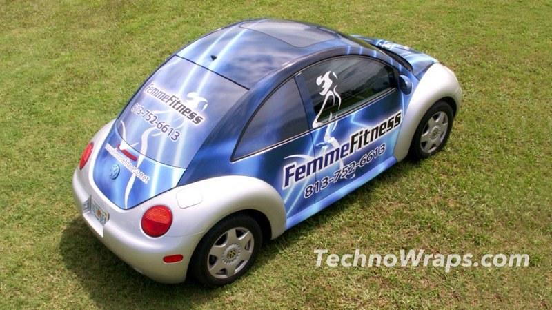 VW Beetle car wrap by TechnoSigns Orlando