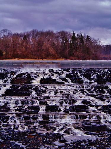 usa lake landscape bedminster pa waterfalls spillway nockamixon lakenockamixon