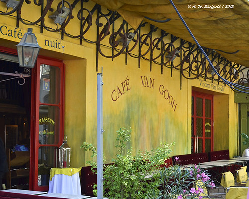 The Cafe Terrace - Van Gogh Cafe   by awsheffield