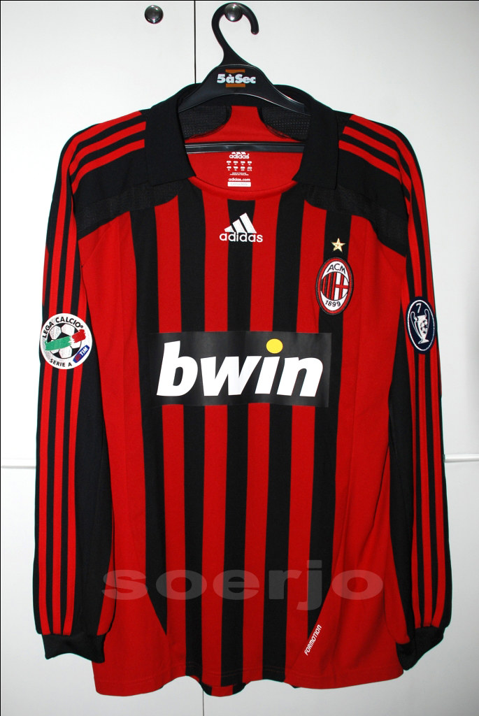 best loved a971e 221fc Ac Milan Formotion Home Kit Match Issue Serie A Version 20 ...