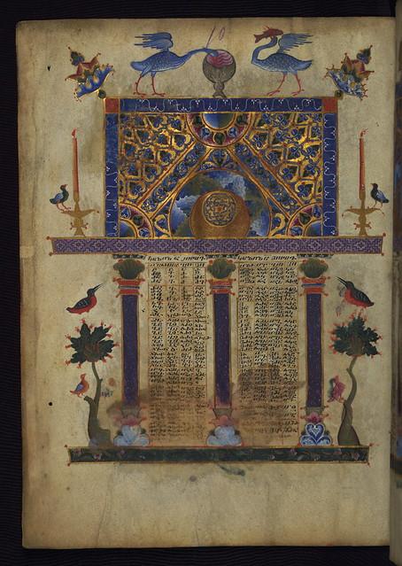 T'oros Roslin Gospels, Canon Table, Walters Manuscript W.539, fol. 3v