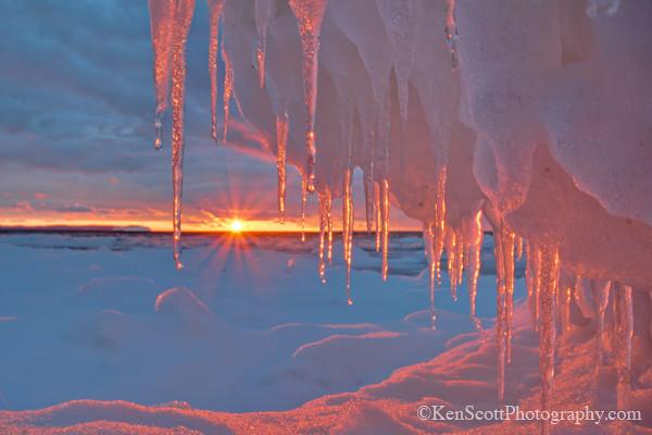 Pyramid Point ... icicle sunset II