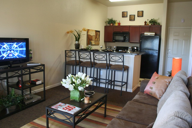 University Village Kitchen and Living Room