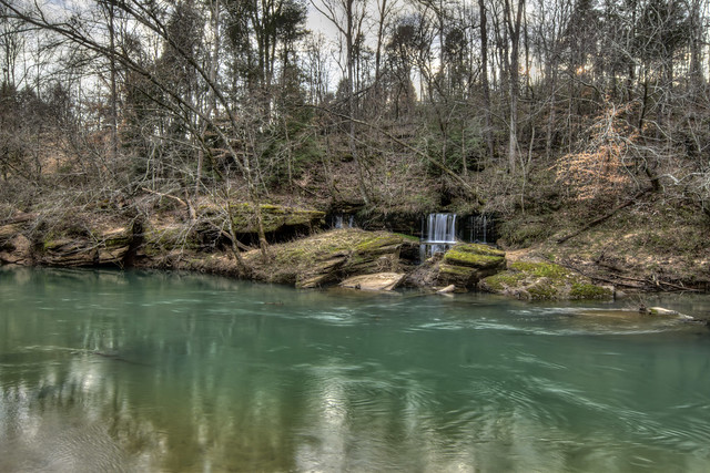 Unnamed waterfall 3, Calfkiller River, White Co, TN