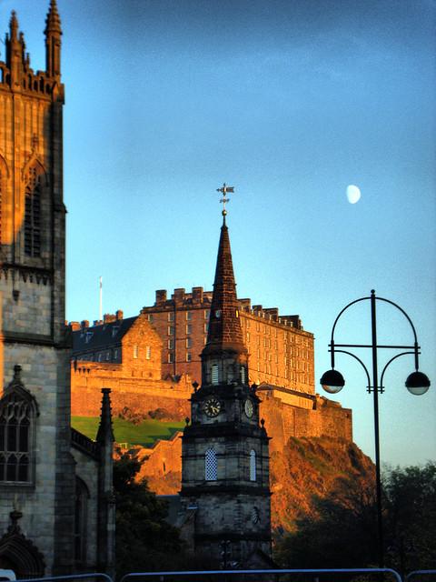 Edinburgh Moon, Edinburgh Castle, Two Churches