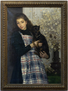 MATHEY Paul 1892 Portrait de Mlle Marthe Mathey au petit chien | by PoissArt