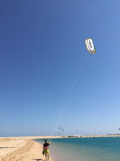 Kitesurfer in Soma Bay - Egypt