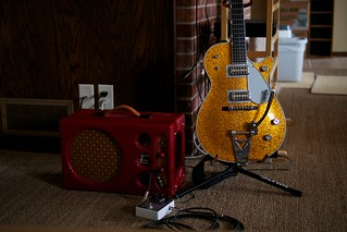Gretsch Sparkle Jet and Electrosonic Amplifier, January 24, 2013 | by Maggie Osterberg
