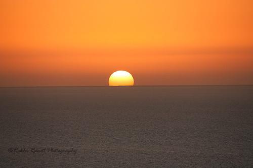 sunset sun india water creek canon gujarat koteshwar 1000d koricreek