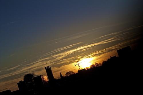 sky sun colors sunrise project denmark march photo spring blu month danmark aarhus scandinaviancongresscenter kristianandersen godsbanen kristianfeldvoss