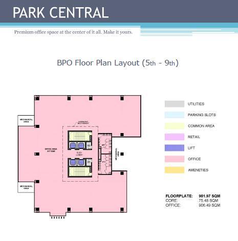 Park Centrale Bpo Floor Plan 5th 9th Floor Emily Cabillada Flickr