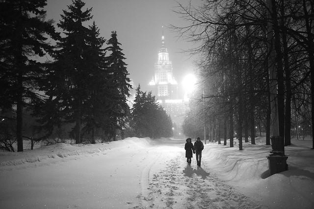 It's springtime, Moscow University