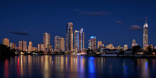 Surfers Paradise Skyline after sunset | by georg_dieter