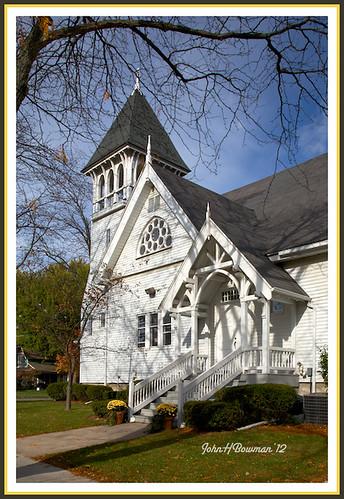 ohio woodcounty perrysburg churches presbyterianchurches firstpresbyterianchurch carpentergothic warmsunlight october2012 october 2012 canon241054l explore