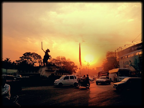 road street city sunset sky sun sunlight india nature statue asia maharashtra shivaji kolhapur cotylife salamanderfilter
