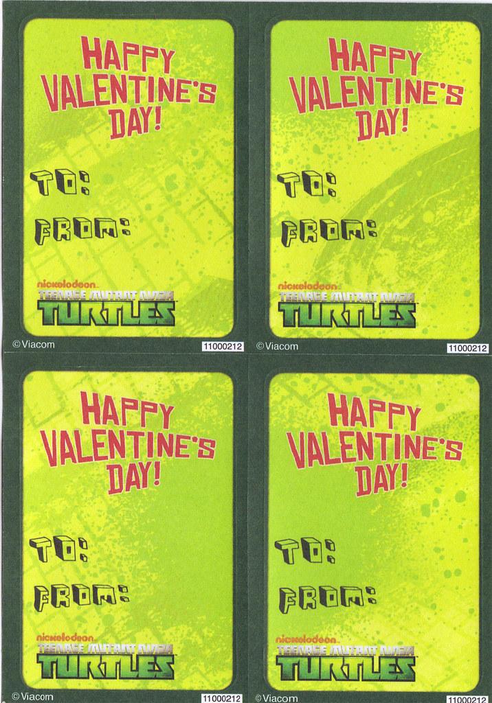 """AMERICAN GREETINGS :: """"NICKELODEON"""" TEENAGE MUTANT NINJA TURTLES - VALENTINE STICKER CARDS v (( 2013 )) by tOkKa"""