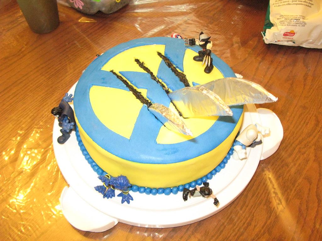 Groovy Wolverine Cake Wesleys Birthday Cake Sarah Flickr Personalised Birthday Cards Veneteletsinfo