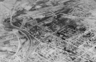 Heilbronn - Air View of Badenerhof Kaserne (Detail), April 1, 1945