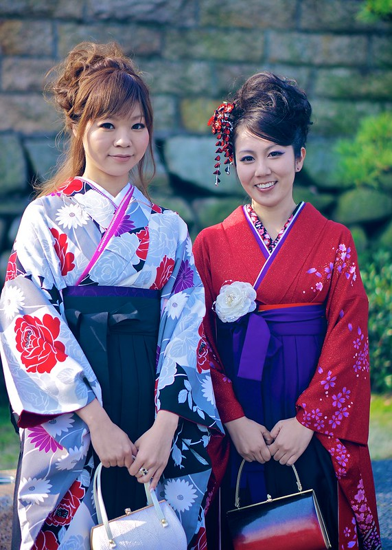 Contrasting Kimonos