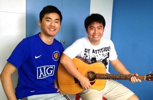 1 to 1 guitar lessons Singapore Alvin