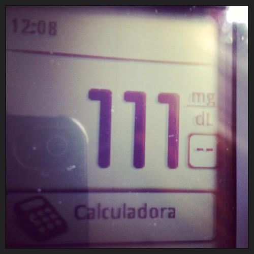 Si dicen que el 666 es el número de la bestia.. ¿El 111 qué será? #diabetes #bg #glucemia #glicemia #números #numbers #tipo1 #type1 #bgnow #glucometer #glucómetro