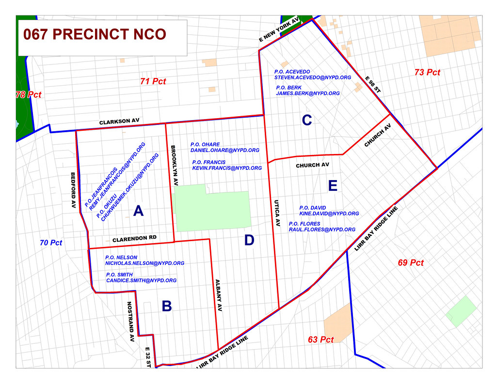 nypd brooklyn precinct map Nypd 67th Precinct Nco Map Jv Santore Flickr nypd brooklyn precinct map