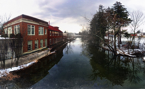 winter panorama building andy water clouds creek stream downtown fort pennsylvania overcast andrew pa chambers aga iphone chambersburg conococheague aliferis photosynth iphoneography