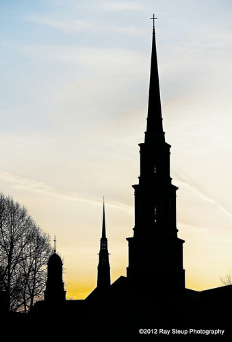 sunset silhouette indiana fortwayne fortwaynein churchsteeple canoneos60d