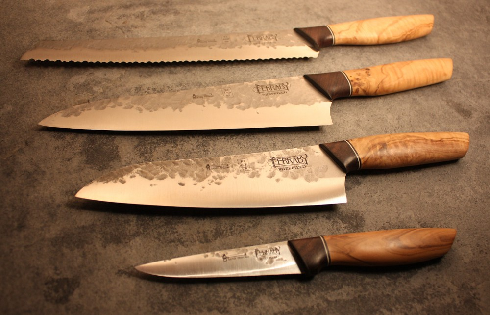 Handmade Kitchen knife set   Set of 4 hand made kitchen kniv ...