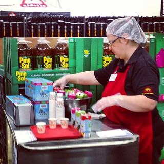 Pine Sol samples at the Costco today. Yummy! | by The_Smiths