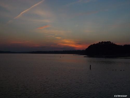 sunset lake night northcarolina rowancounty