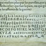 16th-century type specimen from Museum Plantin-Moretus
