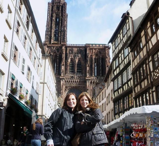 Straßburg , Elsass , vor dem Münster ,  64-43