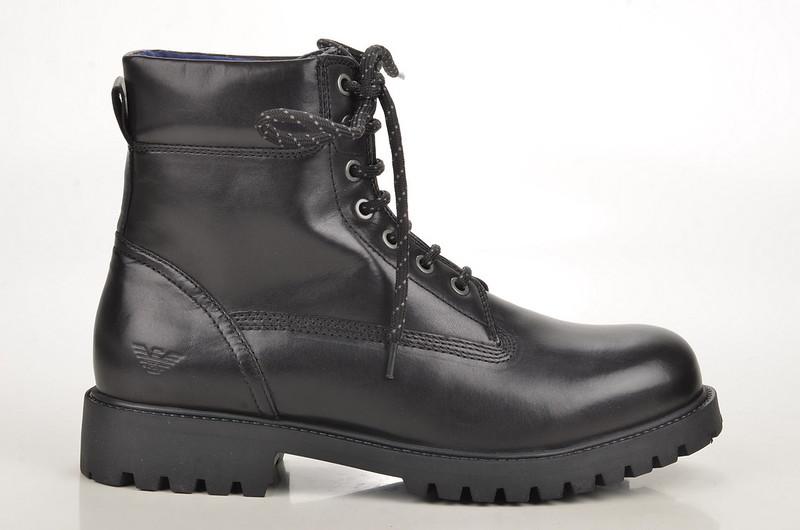 Armani Jeans Hiking Boot / Stiefelette Kalbsleder schwarz (black) (2)
