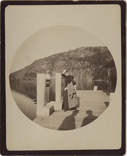 Lady on a Boat Dock with Shadows - No. 2 Kodak print
