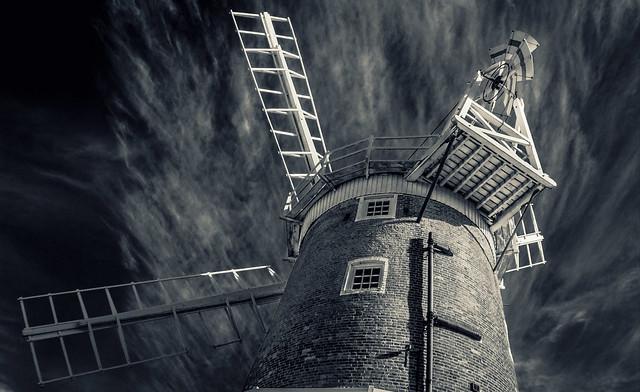 Cley Windmill B&W