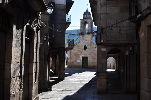 Quartier juif, église Ste Marie-Madeleine, Ribadavia, comarque du Ribeiro, province d'Ourense, Galice, Espagne.