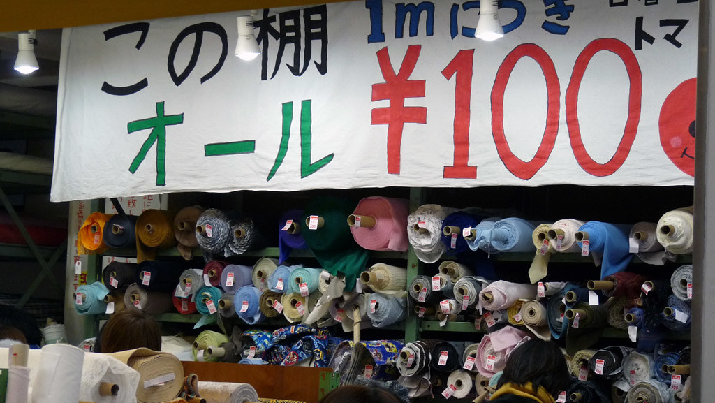 Nippori tomato store is the answer to WHERE TO BUY FABRIC IN TOKYO