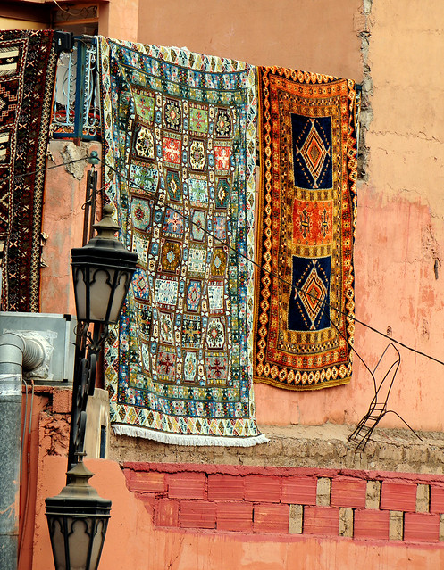 Carpets and Lamps in Morocco