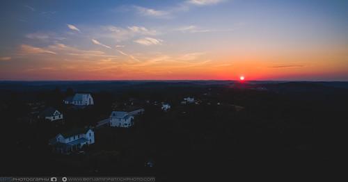 dji djiphantom3pro drone phantom3 phantom3pro sunset aerial aerialphotography beautiful dronephotography dusk sceneryhill pennsylvania unitedstates us